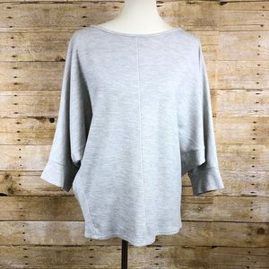 H by Bordeaux Light Gray Sweater in a size M
